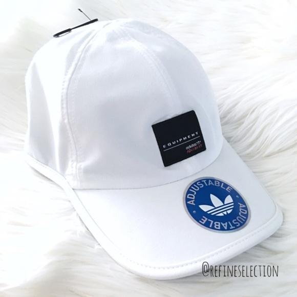 Adidas Originals EQT 3 Stripes White Dad Hat Cap 6f62facac3b4